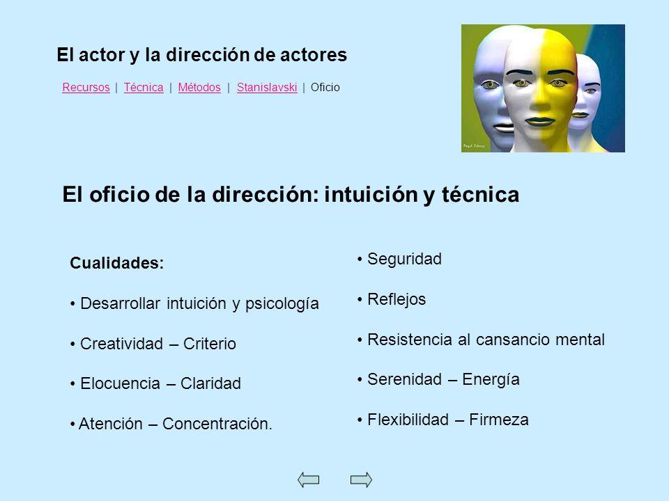 El oficio de la dirección: intuición y técnica