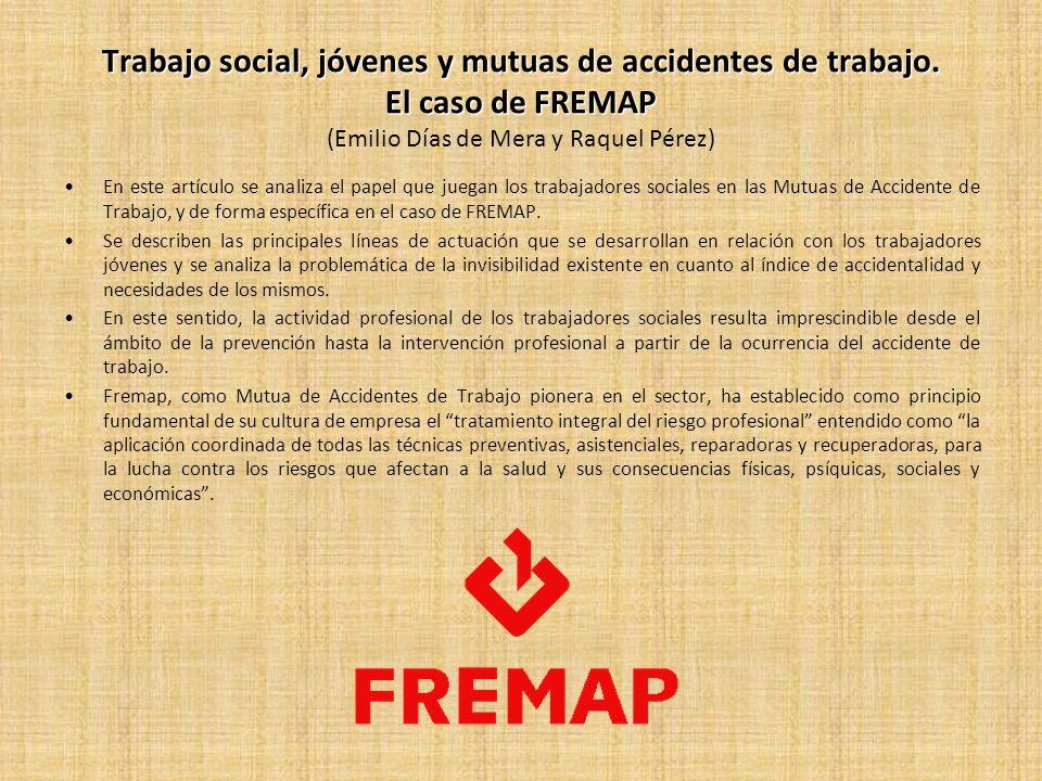 Trabajo social, jóvenes y mutuas de accidentes de trabajo