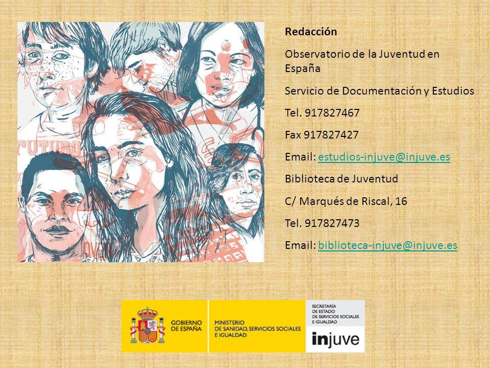 Redacción Observatorio de la Juventud en España. Servicio de Documentación y Estudios. Tel. 917827467.
