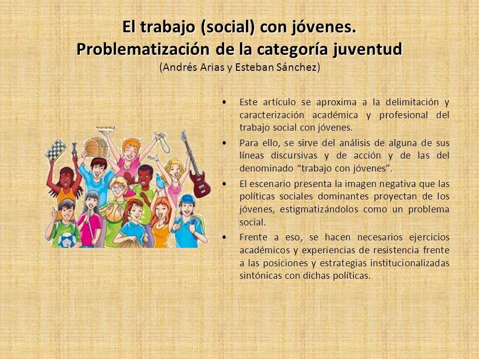 El trabajo (social) con jóvenes