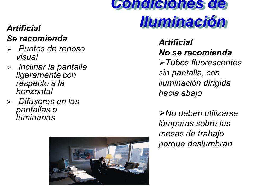 Condiciones de Iluminación