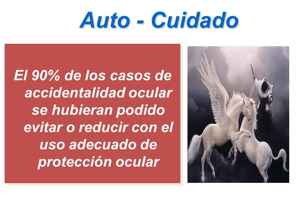 Auto - Cuidado El 90% de los casos de accidentalidad ocular se hubieran podido evitar o reducir con el uso adecuado de protección ocular.