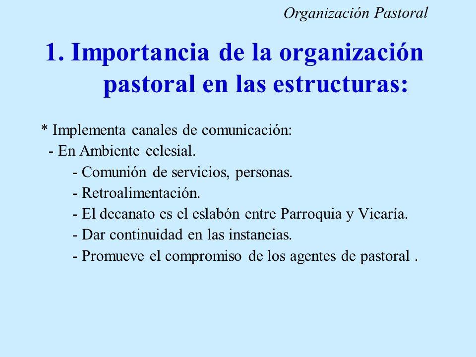 1. Importancia de la organización pastoral en las estructuras: