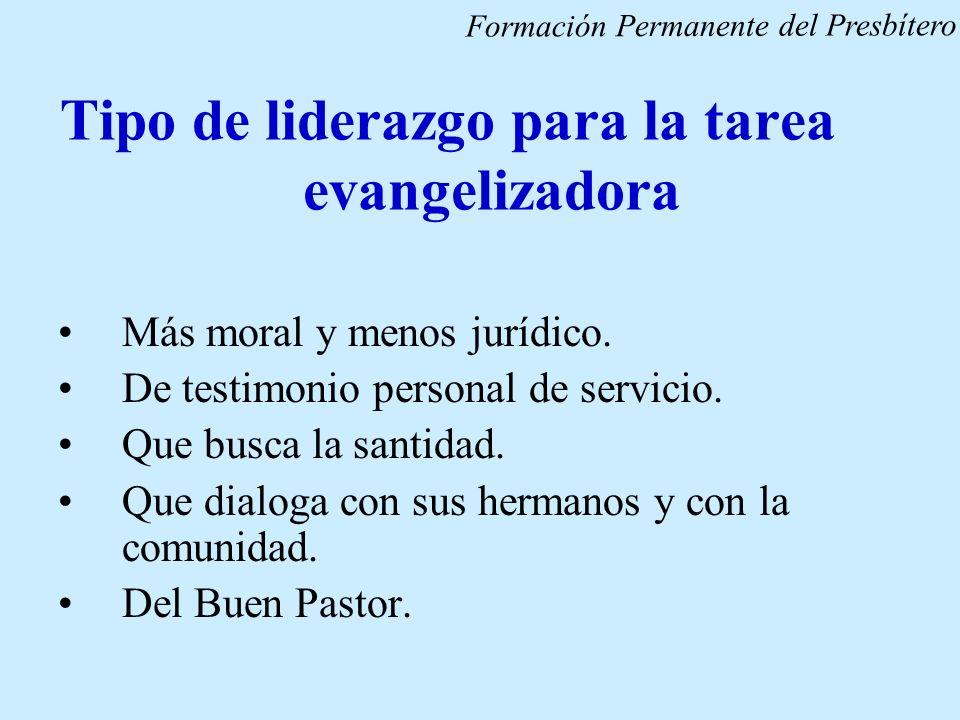 Tipo de liderazgo para la tarea evangelizadora