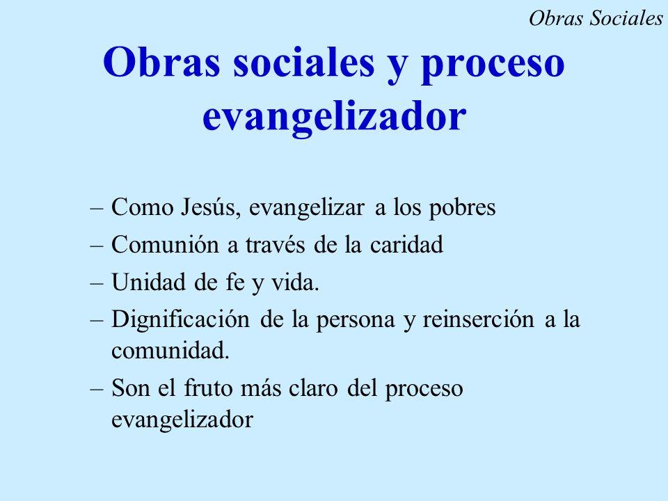 Obras sociales y proceso evangelizador