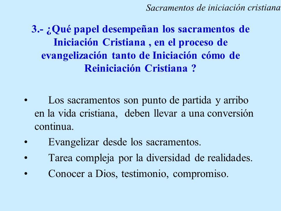 Evangelizar desde los sacramentos.