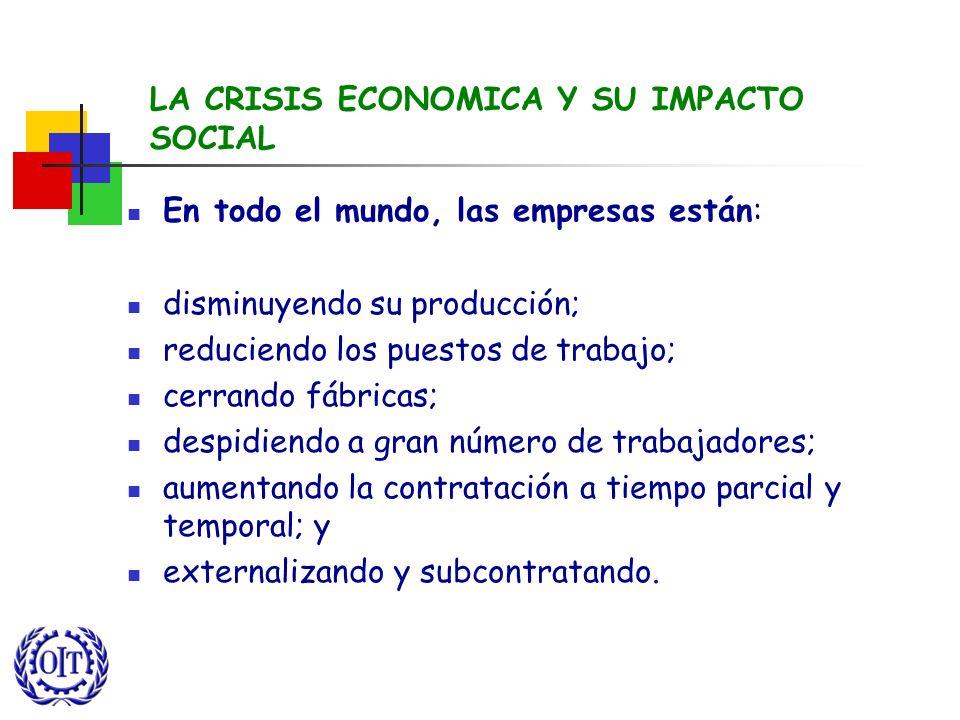 LA CRISIS ECONOMICA Y SU IMPACTO SOCIAL
