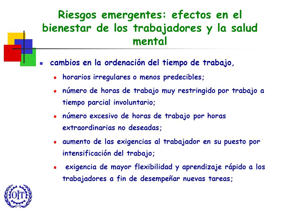 Riesgos emergentes: efectos en el bienestar de los trabajadores y la salud mental