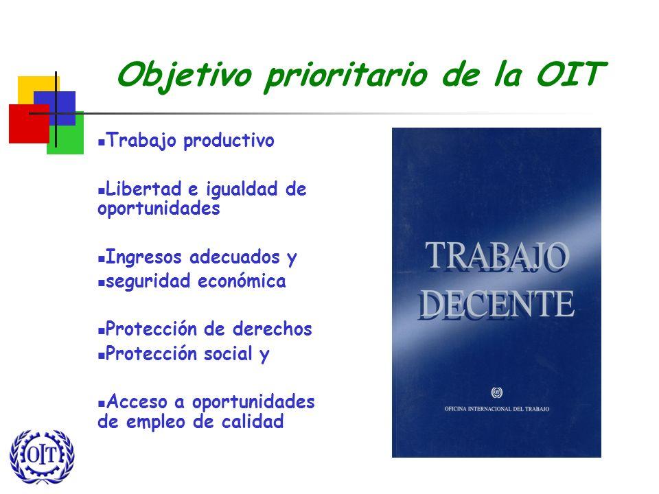 Objetivo prioritario de la OIT