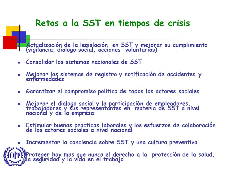 Retos a la SST en tiempos de crisis