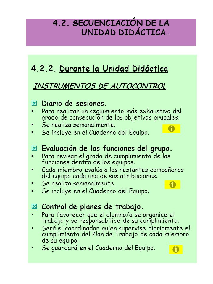 4.2. SECUENCIACIÓN DE LA UNIDAD DIDÁCTICA.