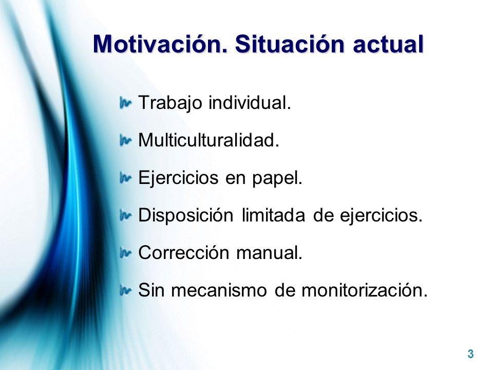 Motivación. Situación actual