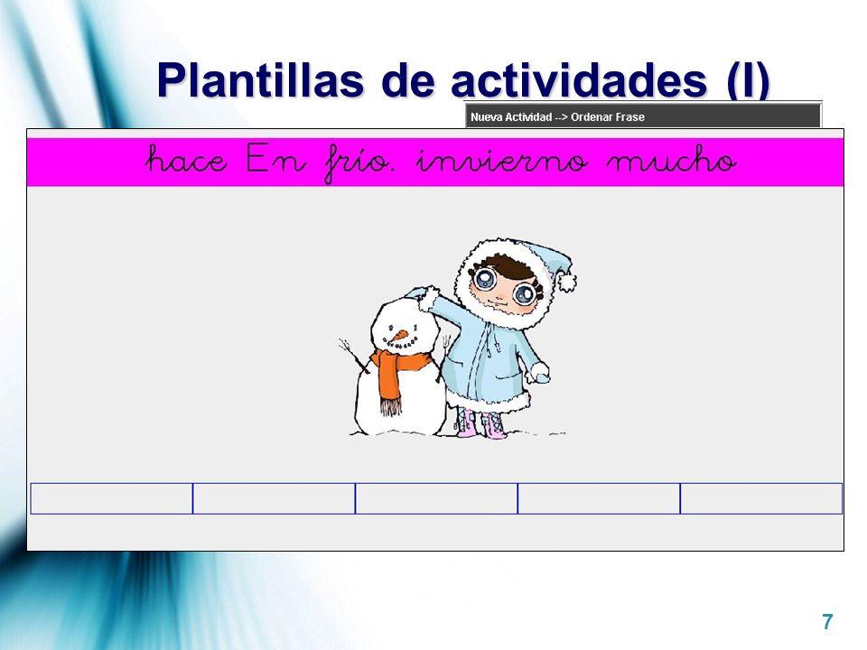 Plantillas de actividades (I)