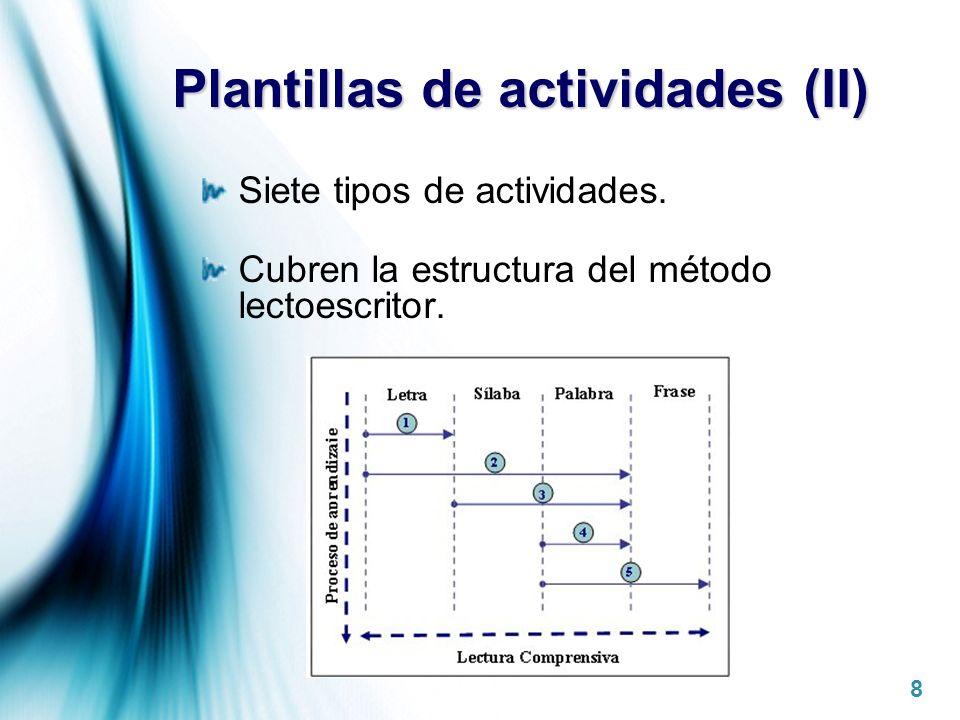 Plantillas de actividades (II)
