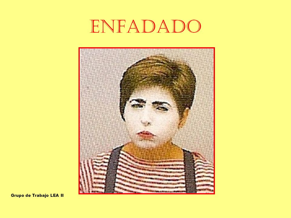 ENFADADO ENFADADO-OFENDIDO Grupo de Trabajo LEA II