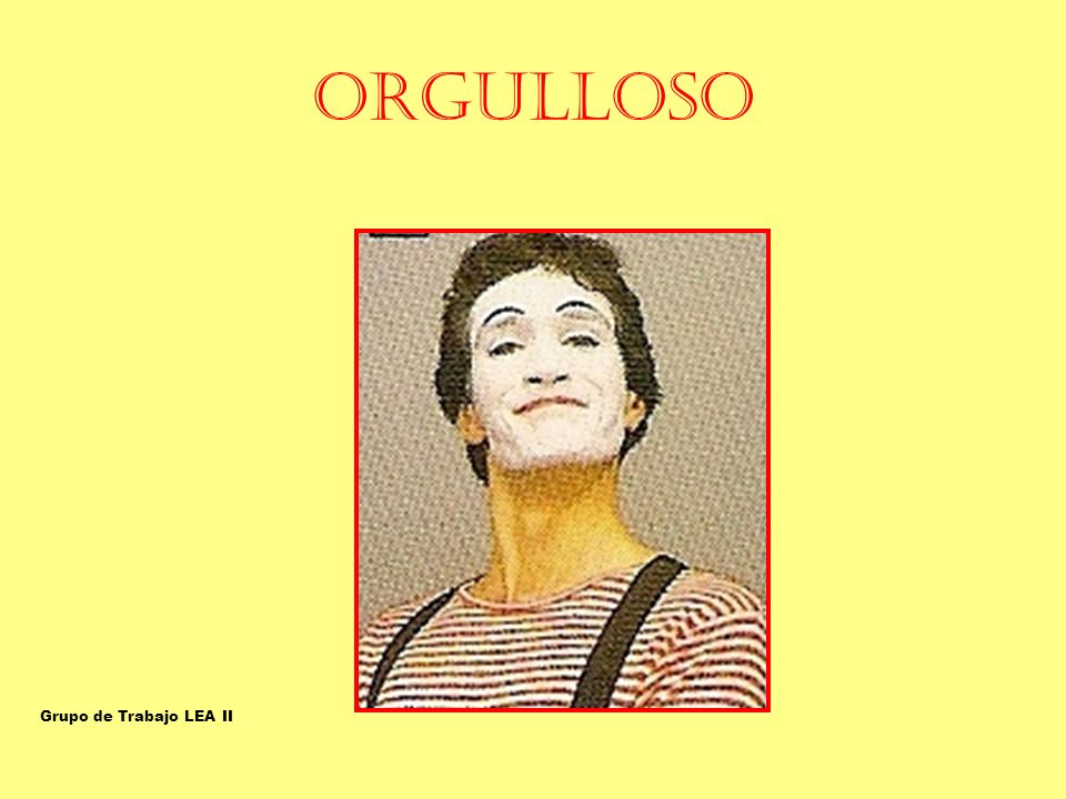 ORGULLOSO ORGULLOSO-SOBERBIO Grupo de Trabajo LEA II