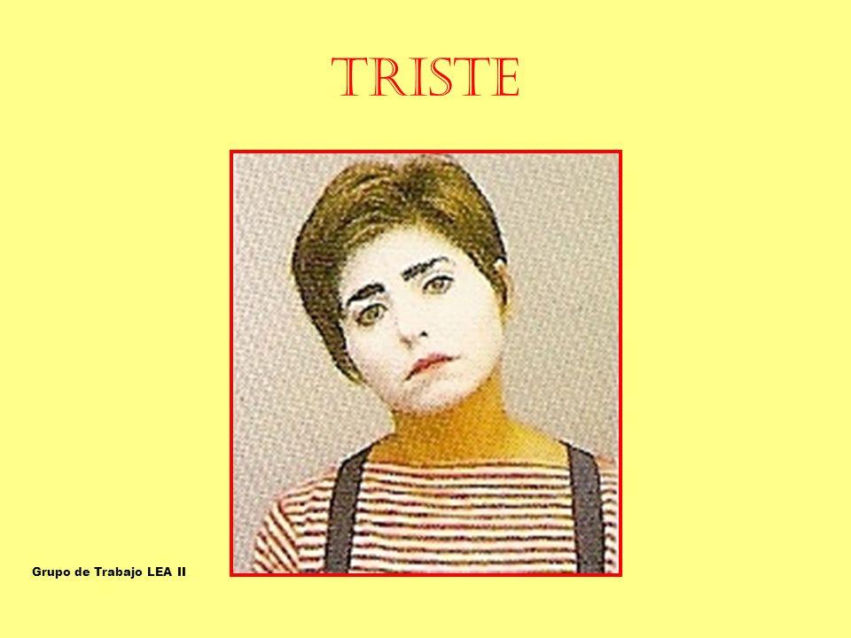 TRISTE TRISTE Grupo de Trabajo LEA II