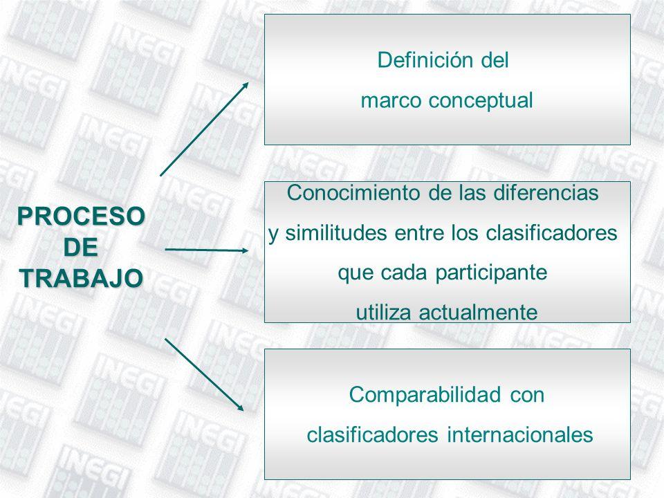 PROCESO DE TRABAJO Definición del marco conceptual