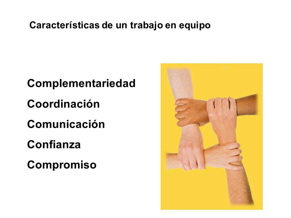 Complementariedad Coordinación Comunicación Confianza Compromiso
