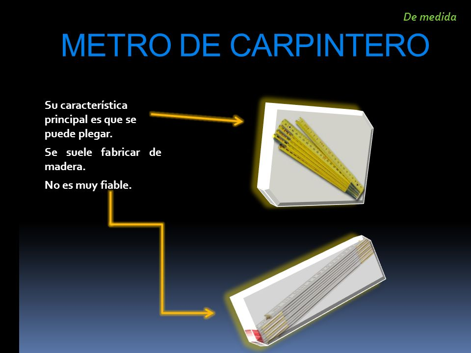 METRO DE CARPINTERO De medida
