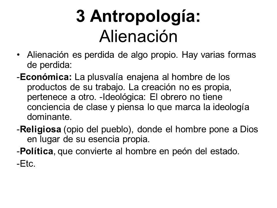 3 Antropología: Alienación