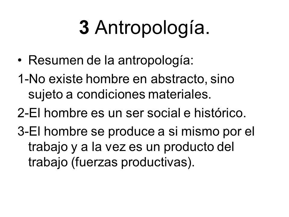 3 Antropología. Resumen de la antropología: