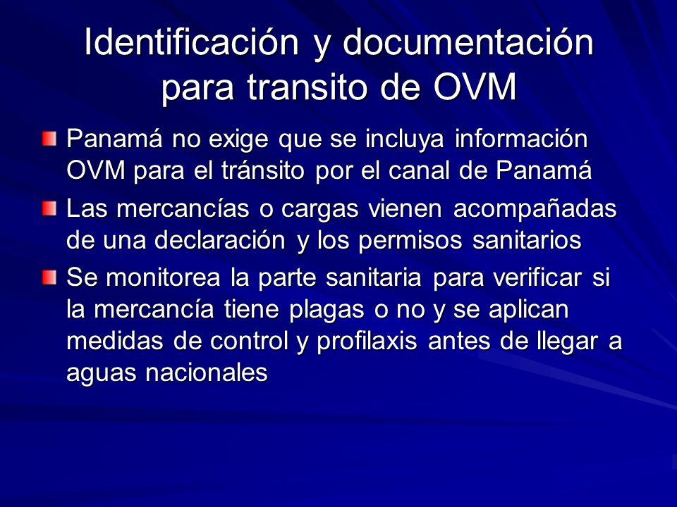 Identificación y documentación para transito de OVM
