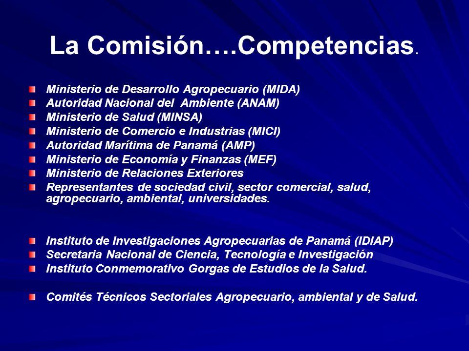 La Comisión….Competencias.