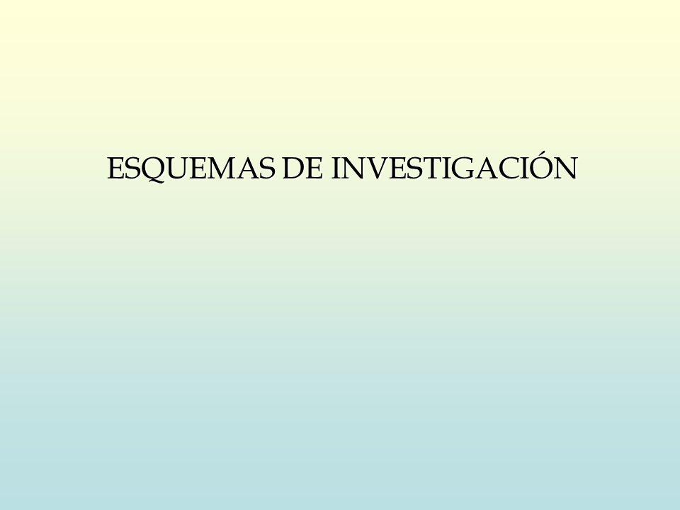 ESQUEMAS DE INVESTIGACIÓN