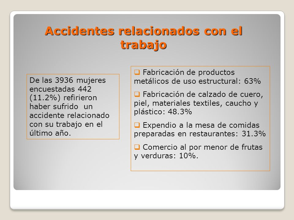 Accidentes relacionados con el trabajo