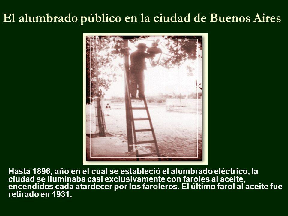 El alumbrado público en la ciudad de Buenos Aires