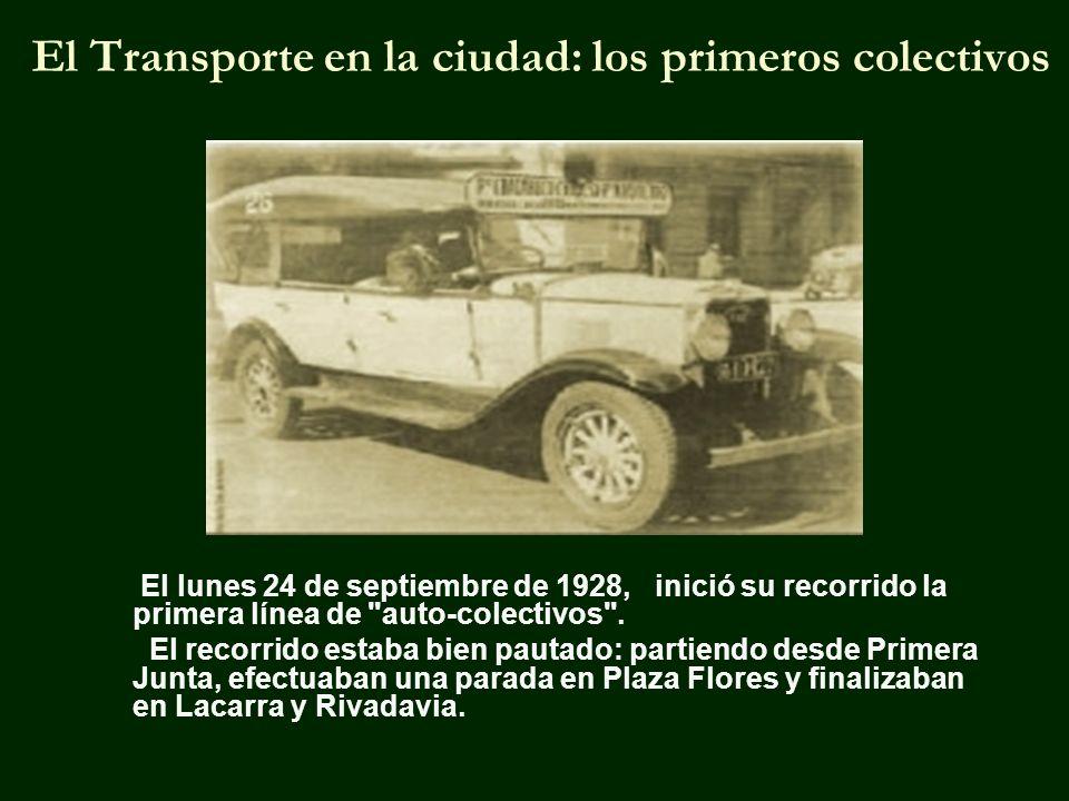 El Transporte en la ciudad: los primeros colectivos