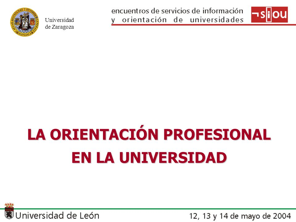 LA ORIENTACIÓN PROFESIONAL EN LA UNIVERSIDAD