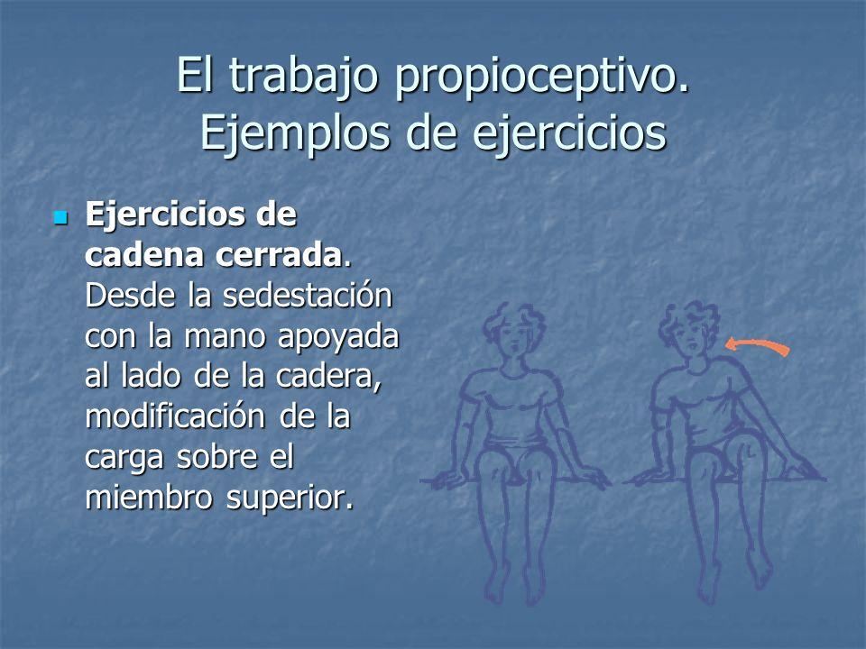 El trabajo propioceptivo. Ejemplos de ejercicios
