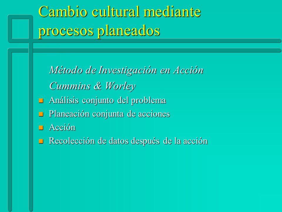 Cambio cultural mediante procesos planeados