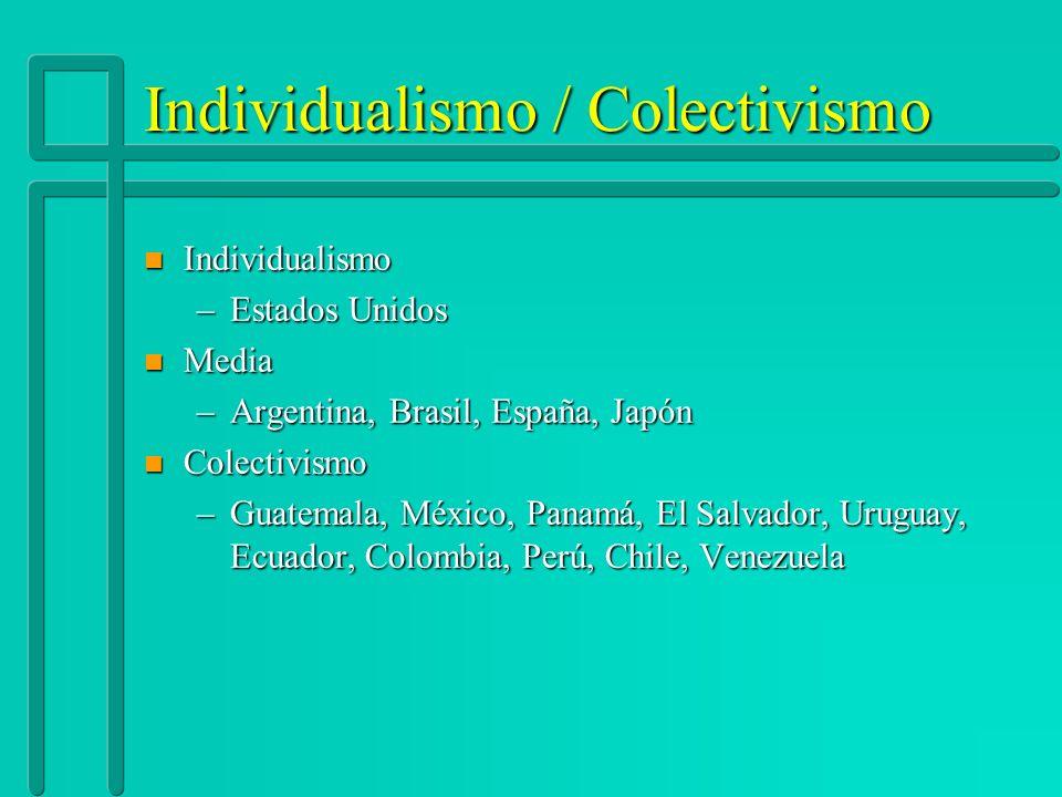 Individualismo / Colectivismo