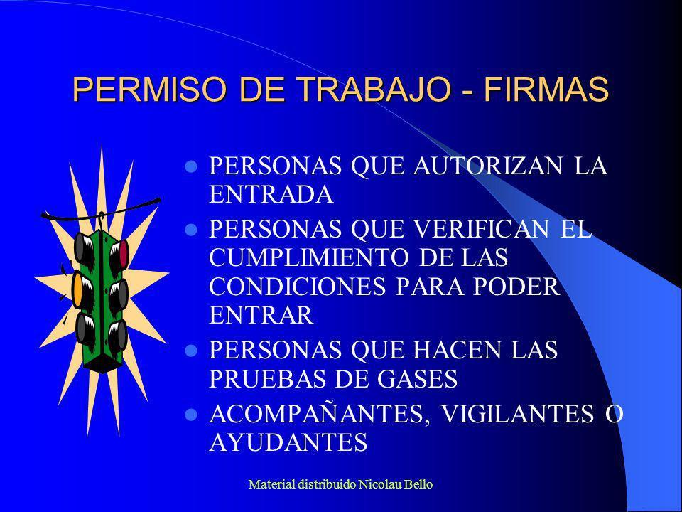 PERMISO DE TRABAJO - FIRMAS