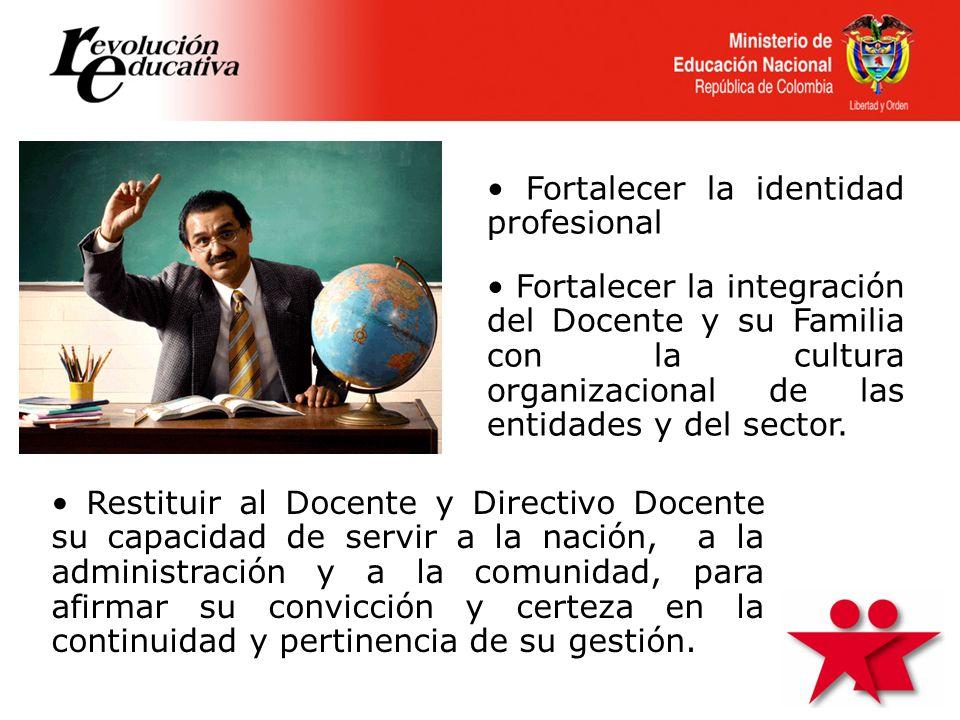 • Fortalecer la identidad profesional