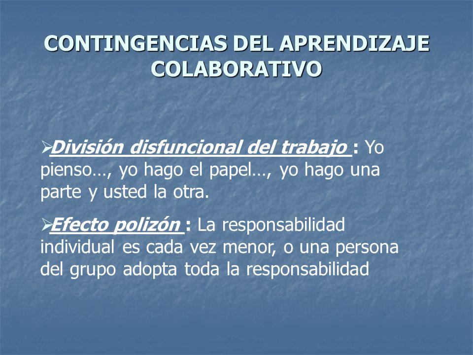 CONTINGENCIAS DEL APRENDIZAJE COLABORATIVO