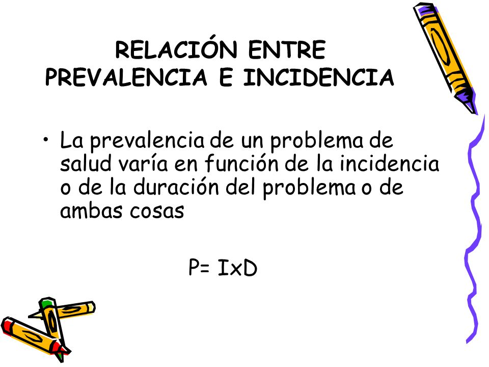 RELACIÓN ENTRE PREVALENCIA E INCIDENCIA