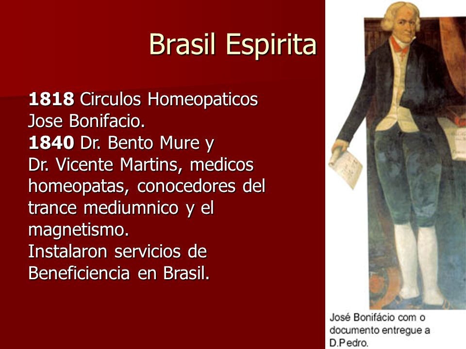 Brasil Espirita 1818 Circulos Homeopaticos Jose Bonifacio.