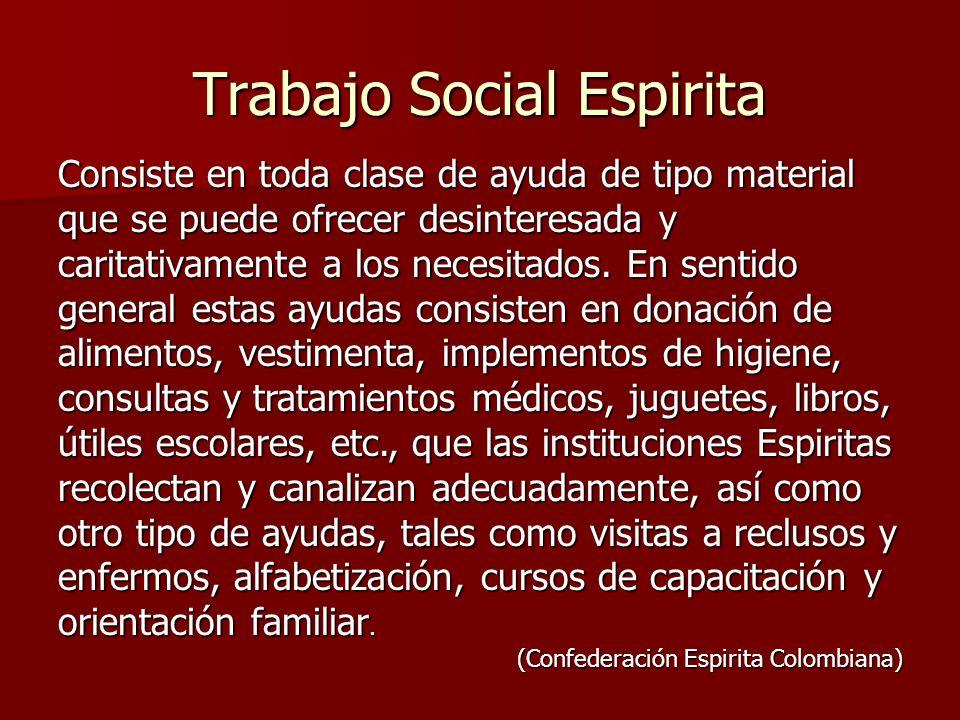 Trabajo Social Espirita