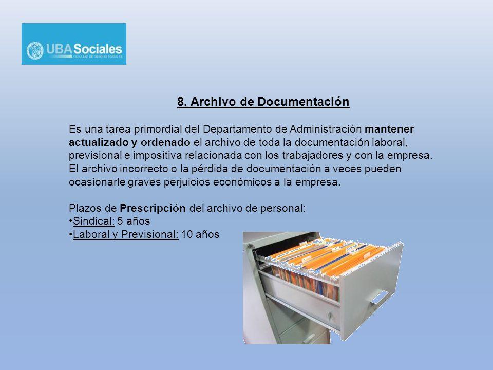 8. Archivo de Documentación