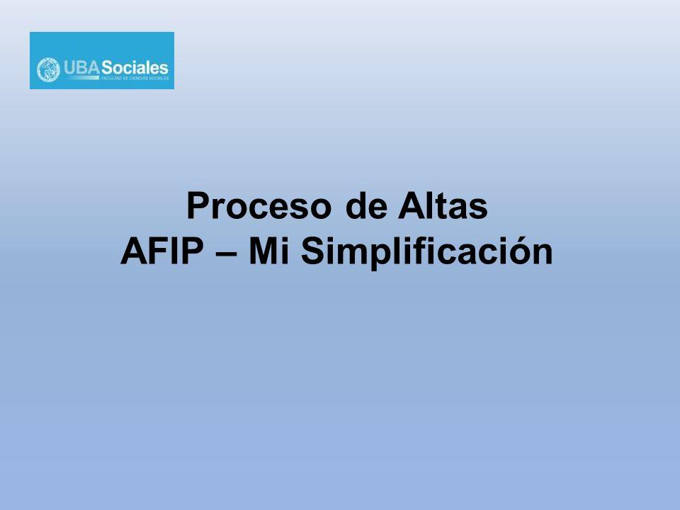 AFIP – Mi Simplificación