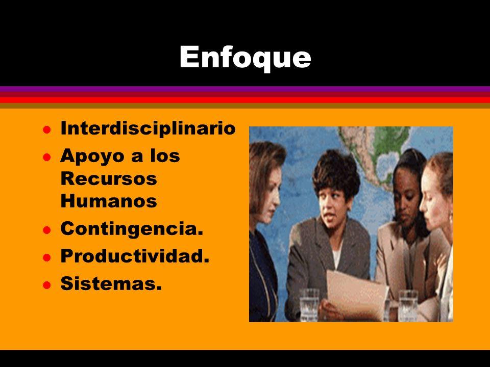 Enfoque Interdisciplinario Apoyo a los Recursos Humanos Contingencia.