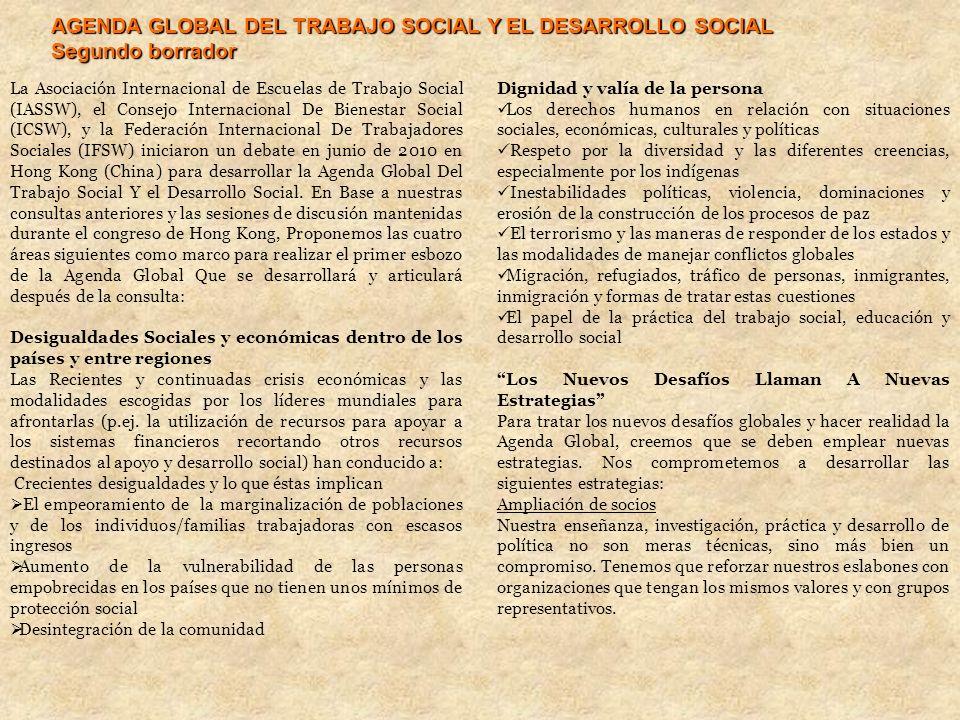 AGENDA GLOBAL DEL TRABAJO SOCIAL Y EL DESARROLLO SOCIAL