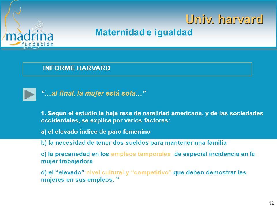Univ. harvard Maternidad e igualdad INFORME HARVARD