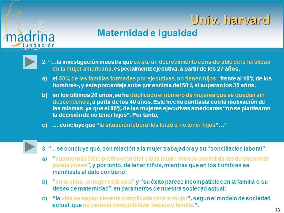 Univ. harvard Maternidad e igualdad