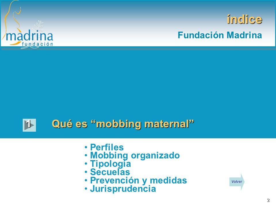 índice Fundación Madrina 1 Qué es mobbing maternal Perfiles