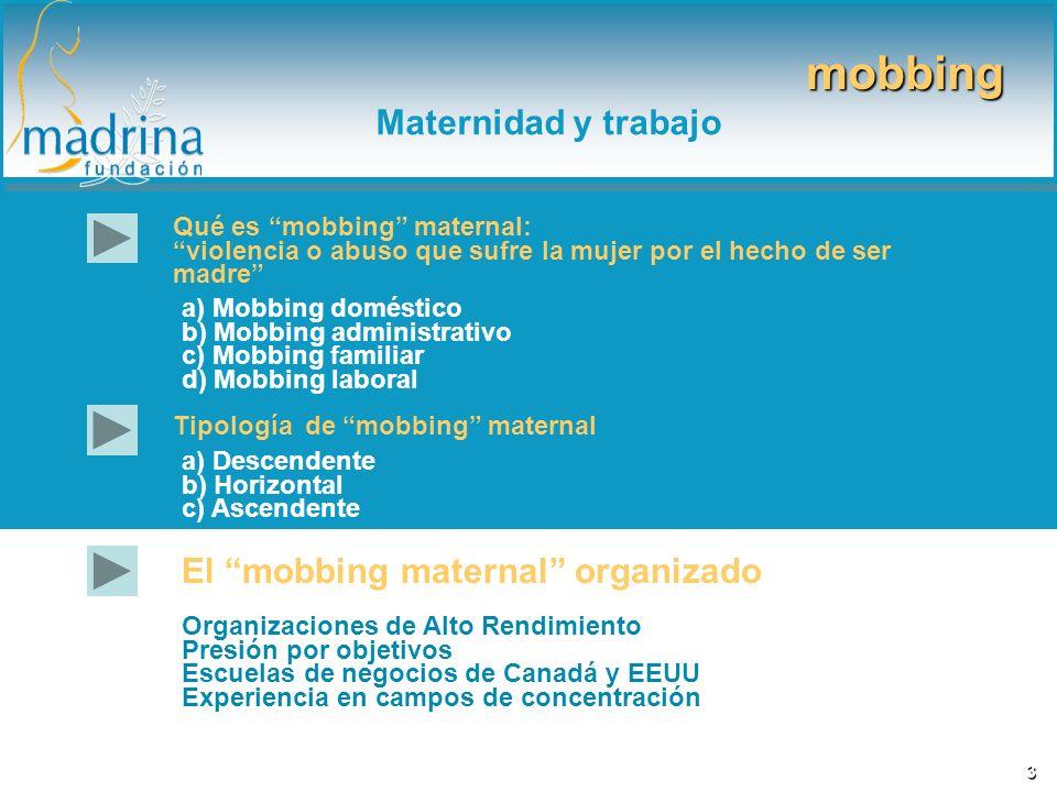 mobbing Maternidad y trabajo El mobbing maternal organizado